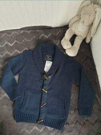 Nowy sweterek 116/122 kartigan
