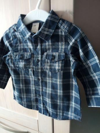 H&M nowa koszula granatowa w kratkę r. 68 3-6 miesięcy