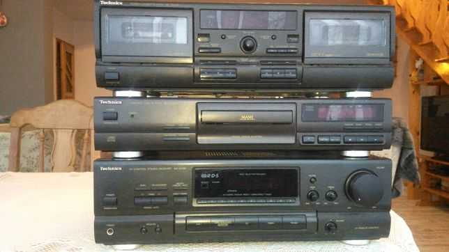 Technics zestaw amplituner deck cd
