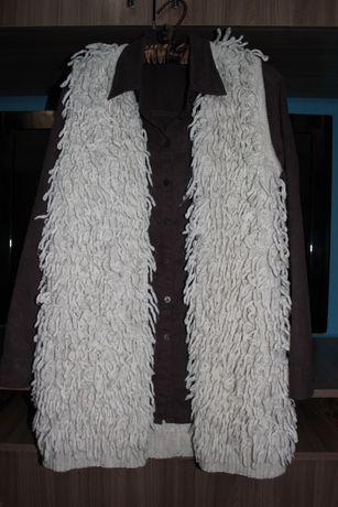 Тёплый шерстяной удлинённый жилет от moonsoon