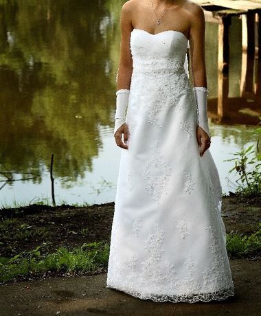 Suknia ślubna ANNAIS BRIDAL rozmiar 36 + gratis