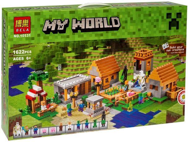 "Майнкрафт Конструктор Minecraft ""Деревня"" 10531, 1622 деталей"