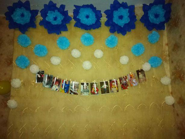 Декор для фото зони на рочок хлопчику. Декор на День рождения.