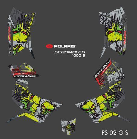 Polaris Scrambler Scrambler S Okleina na calego quada Spradzona Jakość