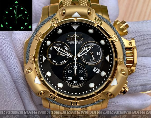 Часы Invicta Subaqua 26727 Poseidon Gold IP Swiss Quartz 500 МТ