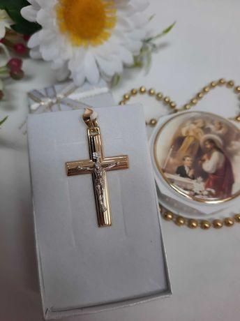 Złoty krzyżyk złoto 585