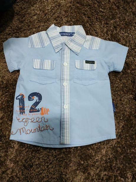 Рубашка рубашечка новая 12 мес 1-2года