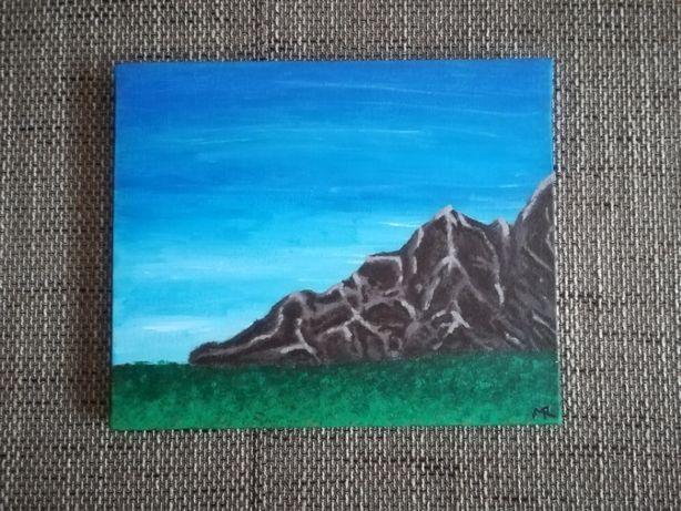 Obraz - Góry malowany na płótnie