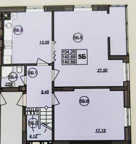 Продам великогабаритну квартиру в зданій новобудові