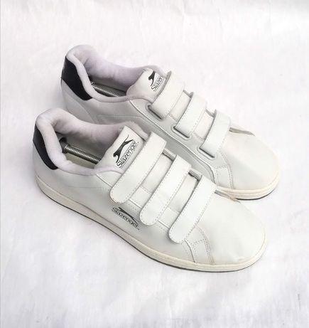 Кроссовки лоутопы белые натуральная кожа большой размер