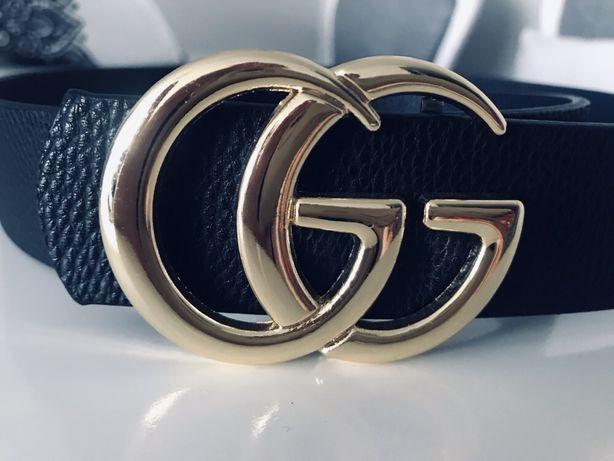 Gucci pasek złota klamra