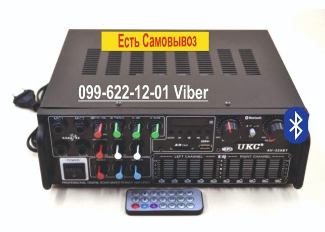 Стереоусилитель звука AMP 326 BT Усилитель Блютуз ФМ ЮСБ