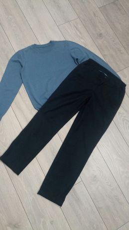 Брюки, штаны синие.