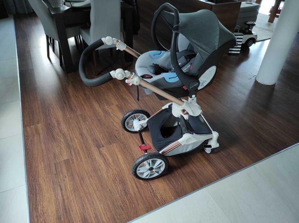 Wózek 3w1 Hot Mom - piękny szary