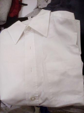 Biała koszula chłopięca z długim rękawem r.134