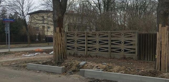 ogrodzenie plyty betonowe