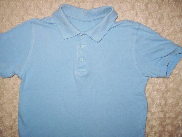 bluzka niebieska krótki rękaw na 122-128