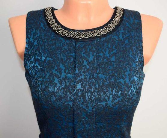 Nowa żakardowa sukienka Orsay z koralikami 36 S