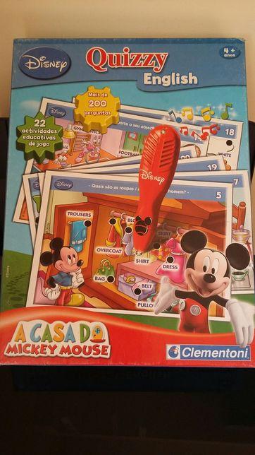 """Jogo Quizzy em Inglês """"A Casa do Mickey Mouse"""""""