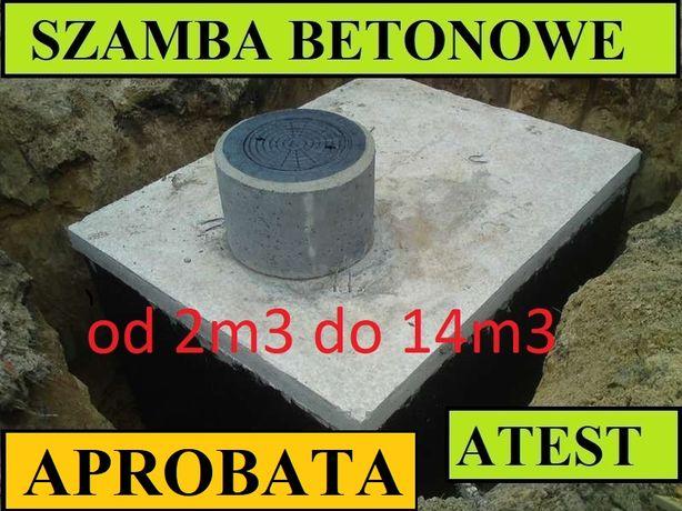 Szambo 4m3 Szamba betonowe zbiorniki zbiornik na deszczówkę 6 8 10 12