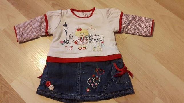 Zestaw dla dziewczynki sukienka + kurteczka 62cm 2-4 miesiące