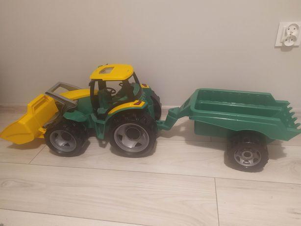 Lena Mega traktor jeździk z przyczepą i spychem