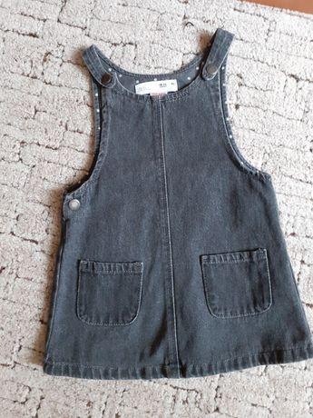 ZARA jeansowa sukienka 92 cm