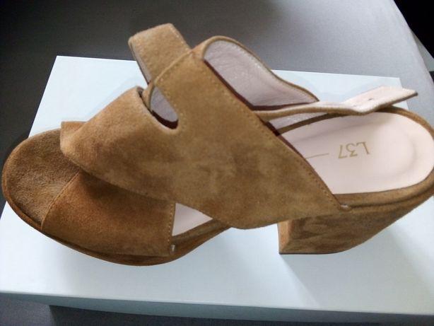 Letnie ładne buty na obcasie roz 37