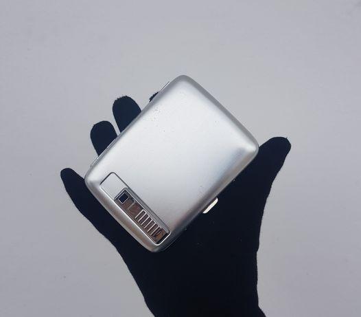Порсигар с зажигалкой алюминий, на 20 сигарет