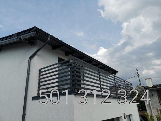 Balkon nowoczesny antracyt balustrada balkonowa palisadowy stal