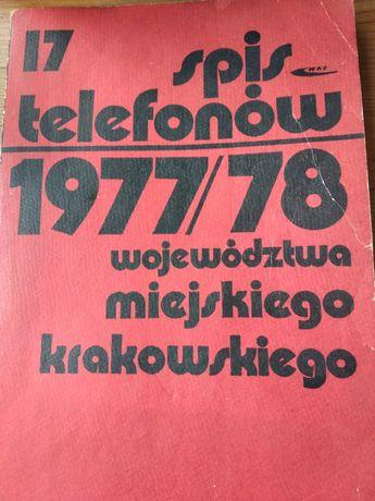 Książka telefoniczna Kraków 1977/1978 UNIKAT