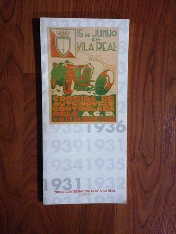 Circuito Internacional de Vila Real anos 30 - catálogo exposição 1999