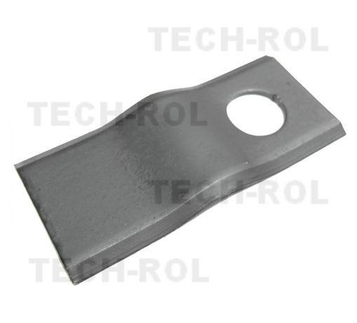 nóż noże do kosiarki rotacyjnej ZTR podgięte 18x fi 21 105x49 czeska