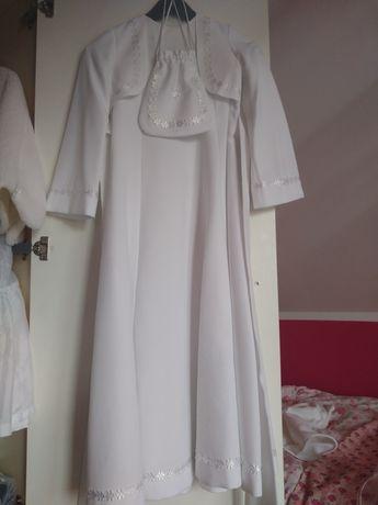 Sukienka komunijna z bolerkiem.
