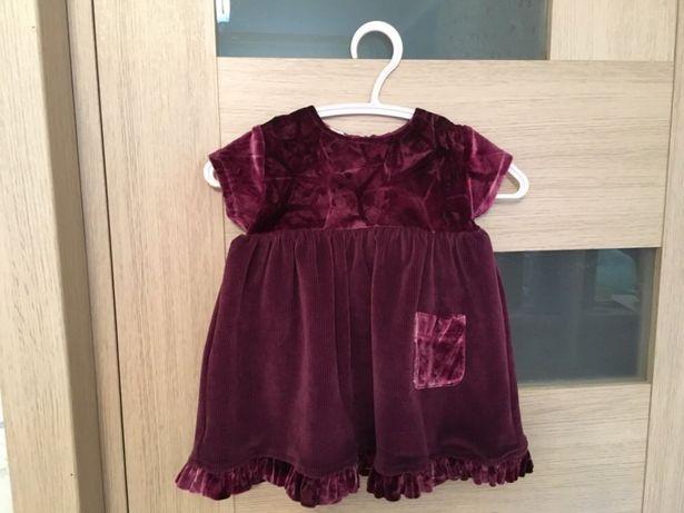 Платье США бархат велюр стрейч нарядное на 9-12 мес.