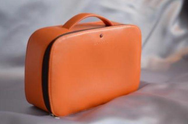 BATYCKI kosmetyczka kuferek pomarańczowa