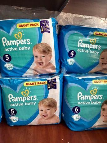 Продам подгузники Pampers active baby 3, 4, 5, 6. (Польша)