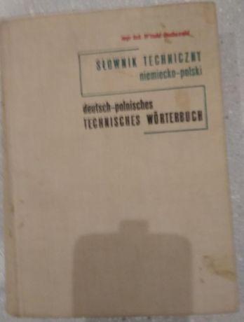 Słownik Techniczny Niemiecko - Polski Red. Koch 1967