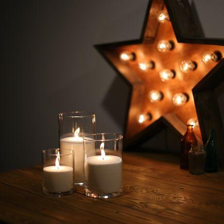 Насыпные свечи: набор 12, 16 и 21 см