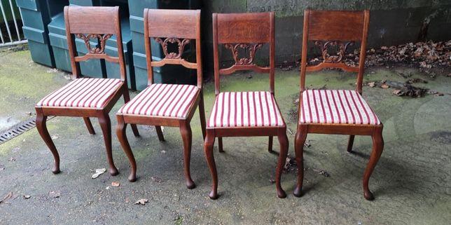 4 krzesła - komplet - antyk