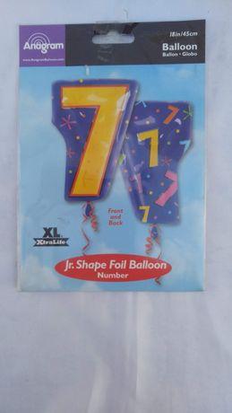 Фольга шар Цифра 7 фигура мульти 48 см США Anagram
