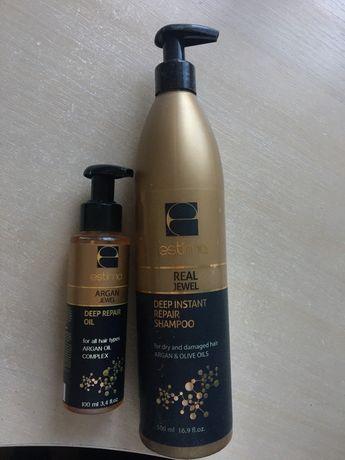 Шампунь и олия Estima для сухих поврежденных волос