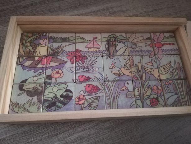 Puzzle drewniane Montessori