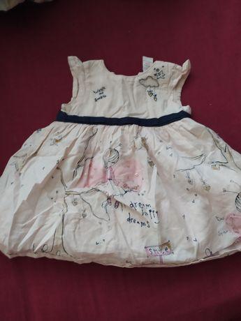 Платья на девочку размер от 0-6 месяцев.