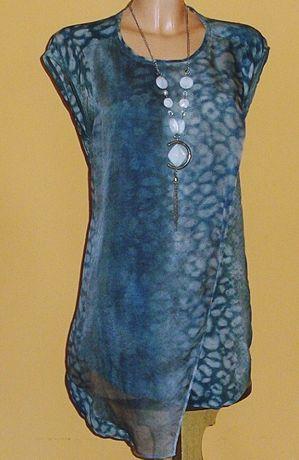 Tunika bluzka z jedwabiem asymetryczna marki AllSaints r.36
