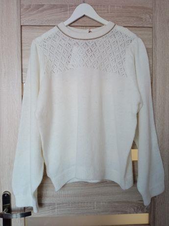 Nowy sweterek ecru Promod