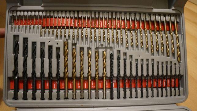 Zestaw narzędzi. Wiertła do betonu, metalu, uniwersalne, otwornica