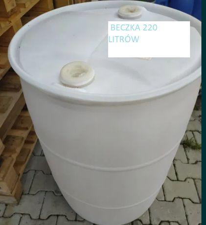 Beczka plastikowa 220 litrów z korkami