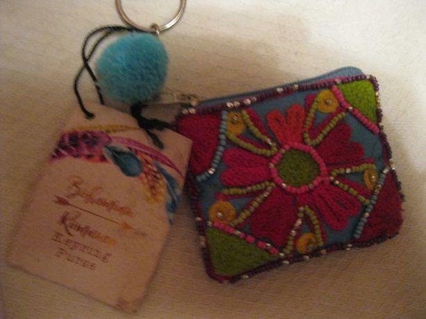 детская маленькая сумочка кошелек вышивка цветок можно как брелок