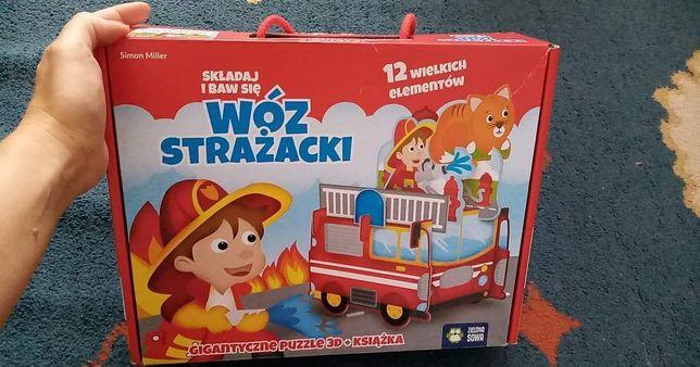Duży wóz strażacki +książeczka jak NOWA
